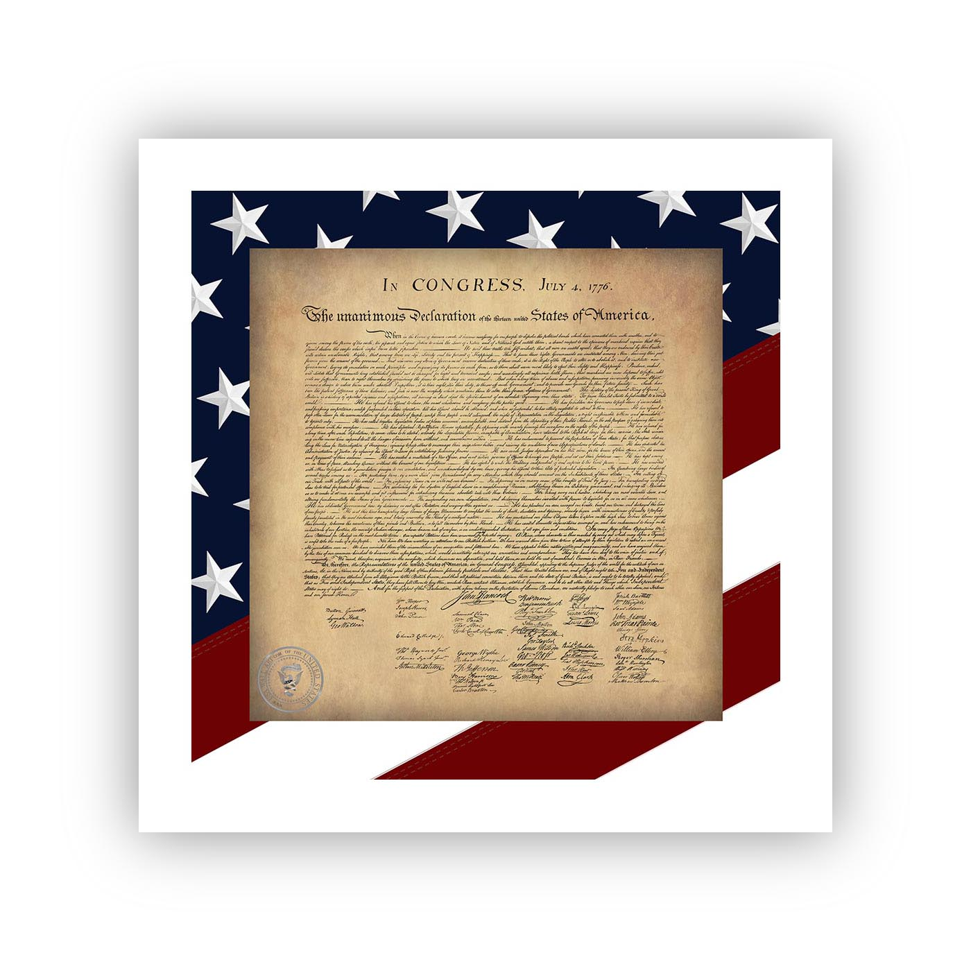 Declaration of Independence  - USA Wall Art™ Posters will come with a white border (see descriptions below).