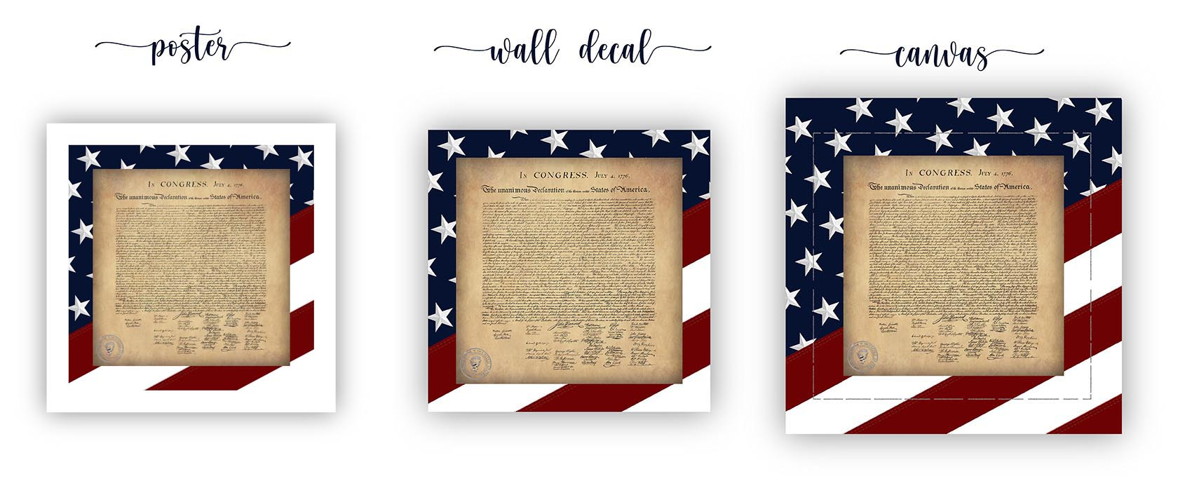 Framed Wall Art - Framed Constitution of the United States Artwork - Posters, Wall Decals and Canvas'